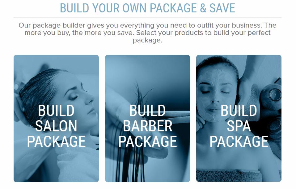 salon equipment package
