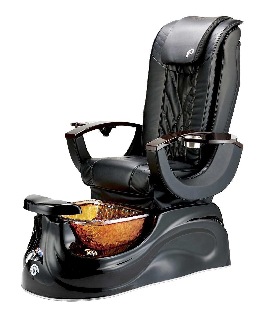 Pibbs PS65 San Marino Pipeless Pedicure Spa w/ Glass Bowl & Shiatsu