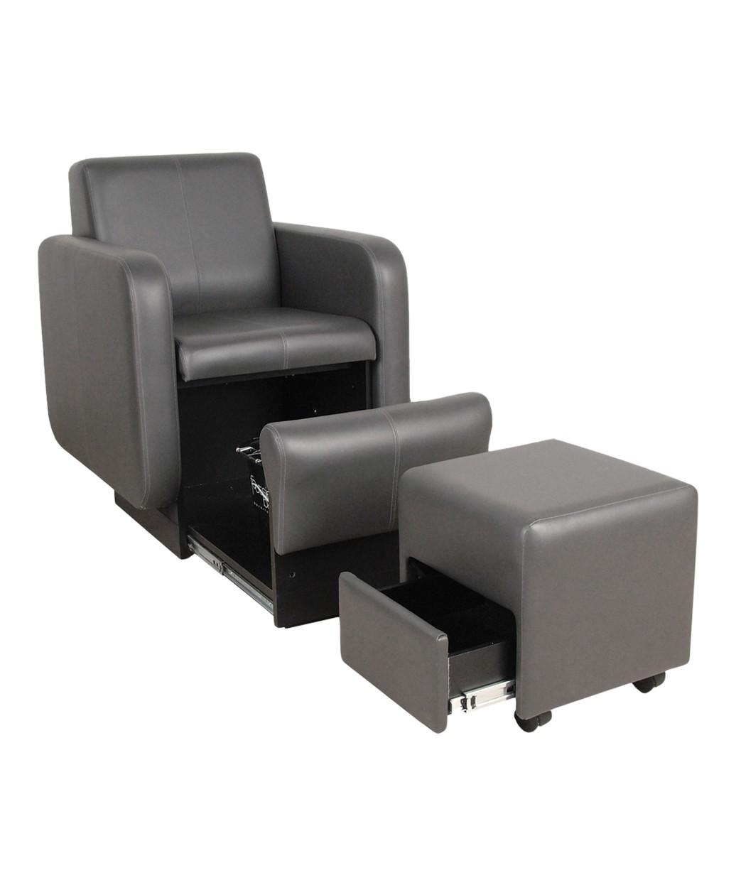 Groovy Collins 2555 Blush Club Pedicure Chair W Footsie Bath Machost Co Dining Chair Design Ideas Machostcouk