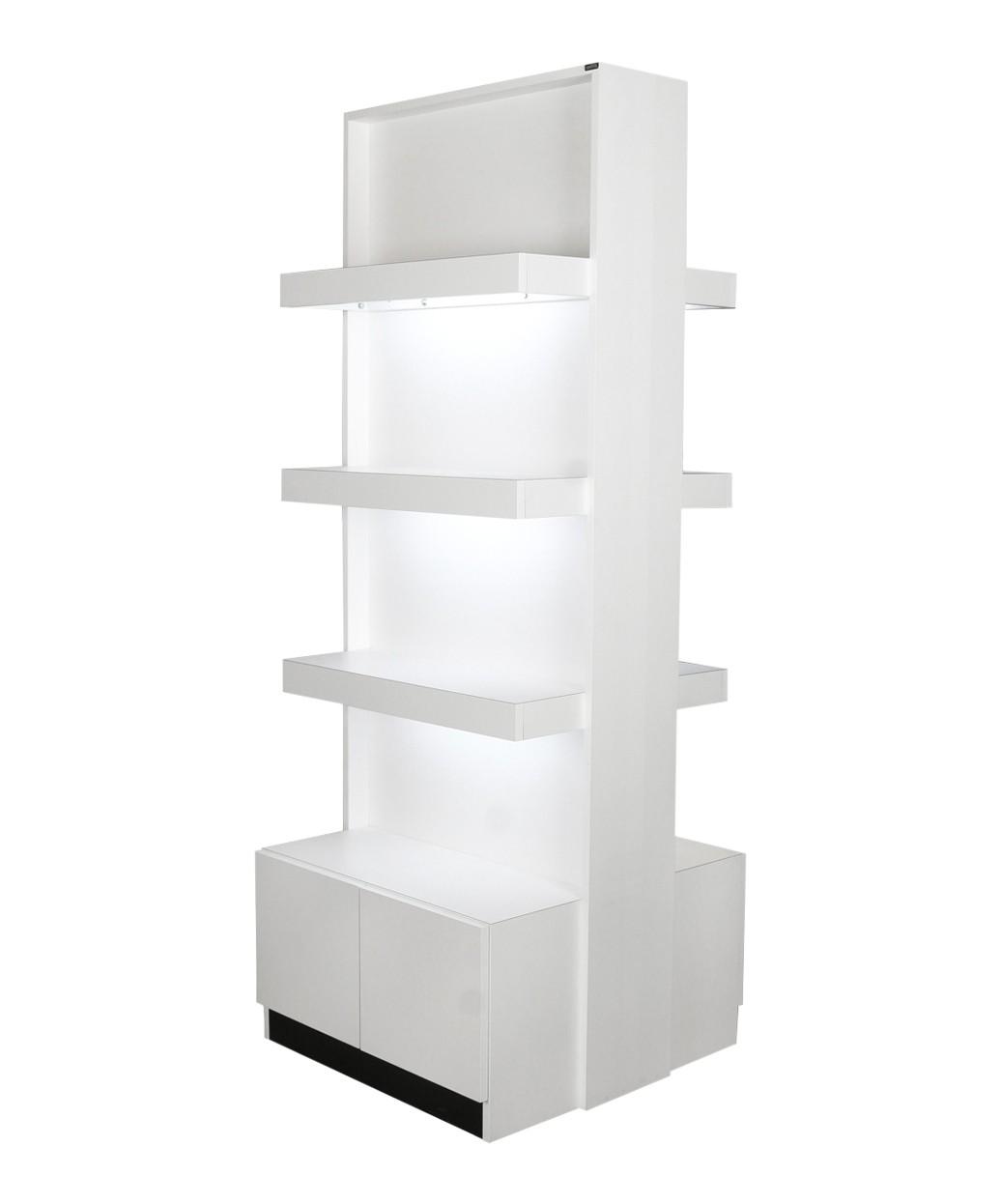 Collins 6649 Zada Retail Display w/ Light & Storage
