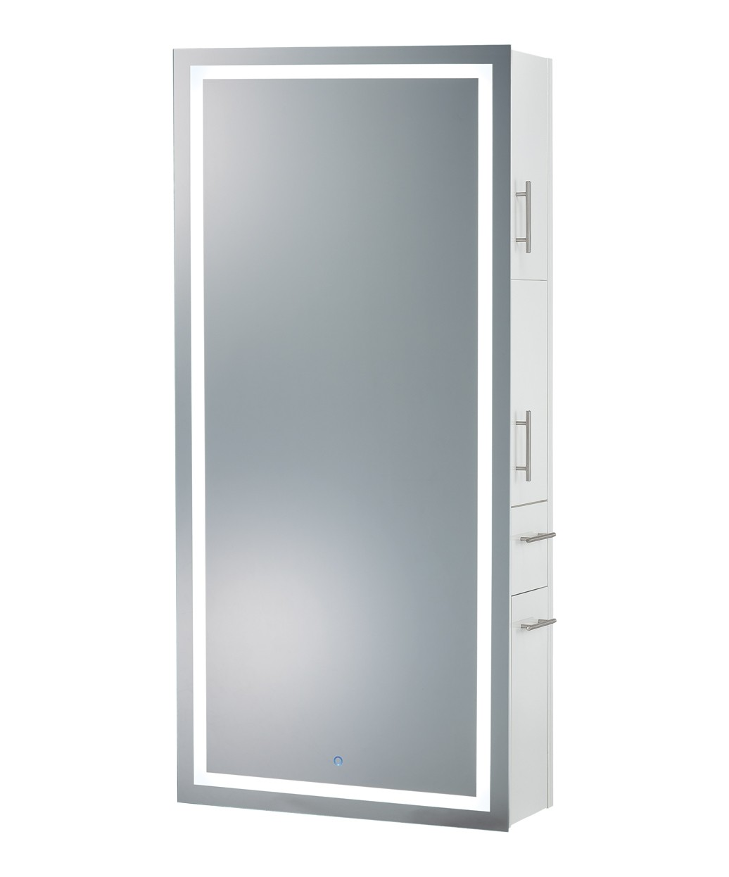 Pibbs Lumina LED Salon Mirror & Storage Server