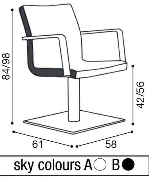 Salon Ambience SH-540 Melissa Styling Chair