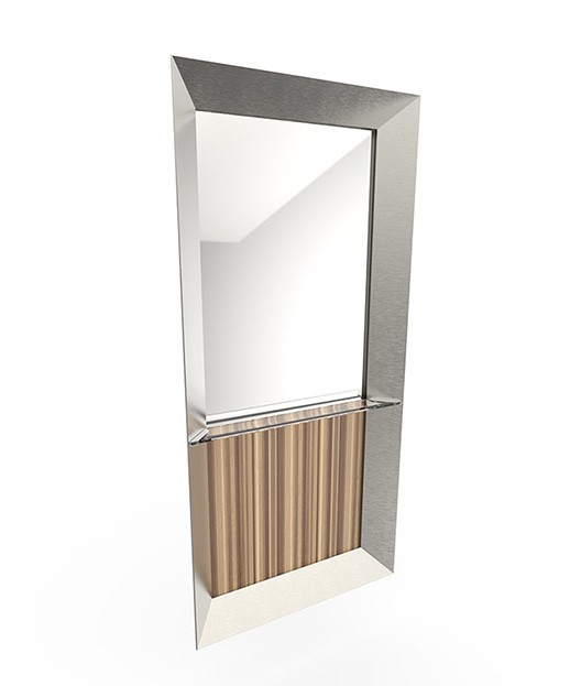 Veeco Forty Five Stainless Steel Salon Mirror