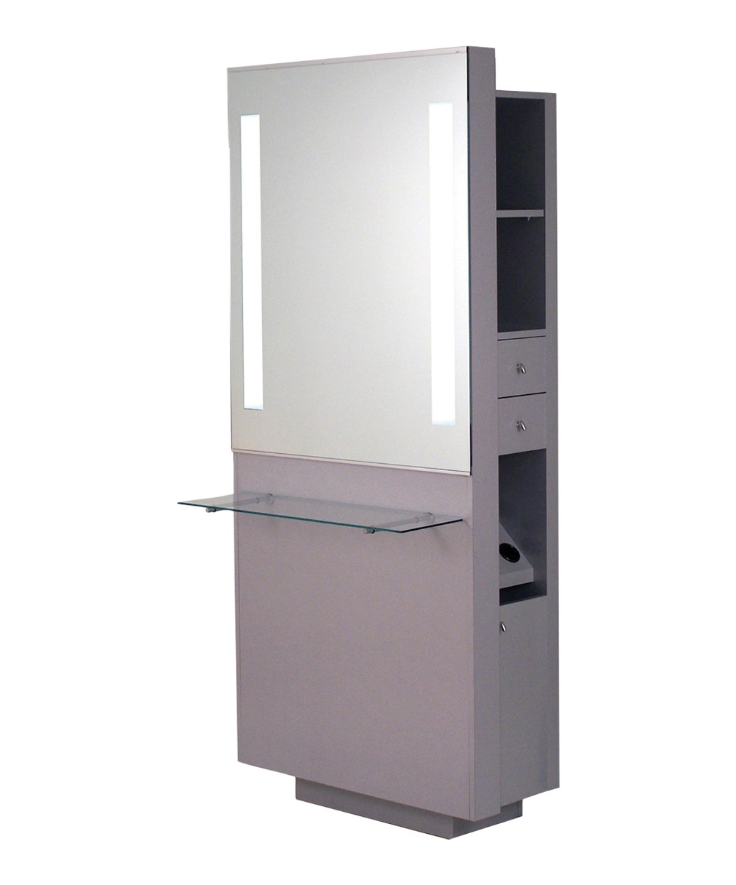 Belvedere OP252-HPL Opal Styling Station w/ Shelf