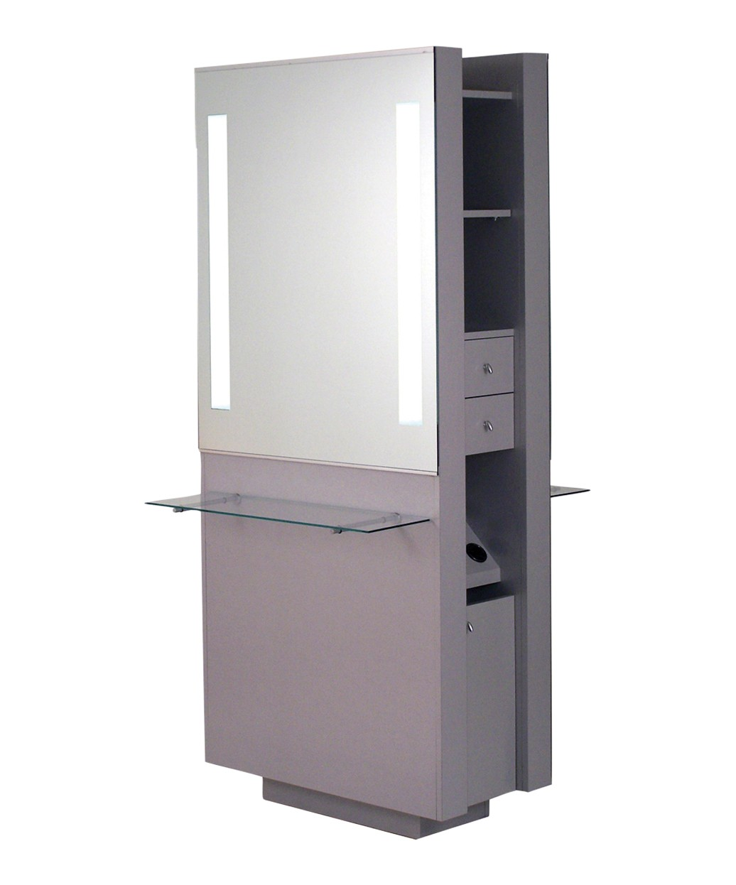 Belvedere OP292-HPL Opal Double Styling Station w/ Shelf