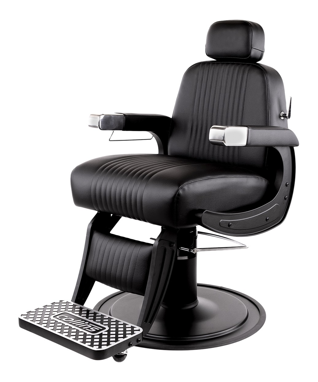 Collins B70B Blacked-Out Cobalt Omega Barber Chair
