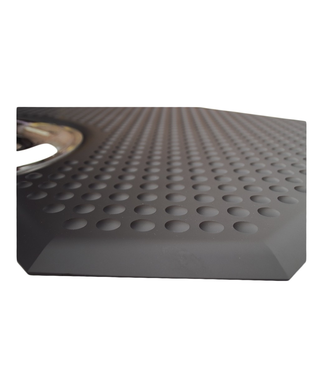 "40"" x 60"" Rhino Phat Footsie Hexagon Salon Mat w/ Round Cut-Out 1"""