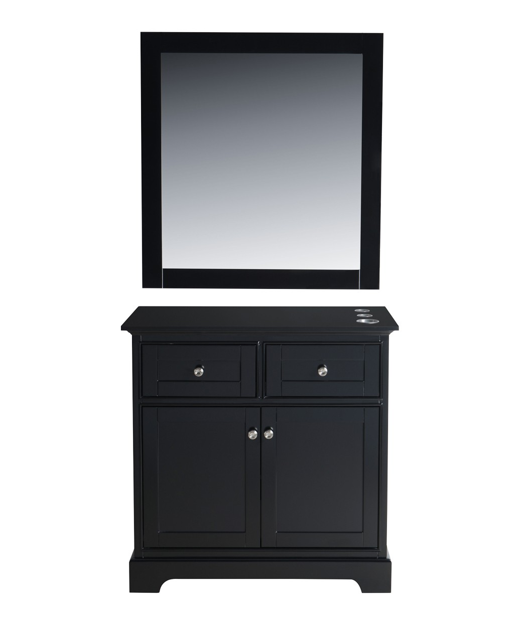 "Hudson 36"" Black Vanity Styling Station & Mirror"