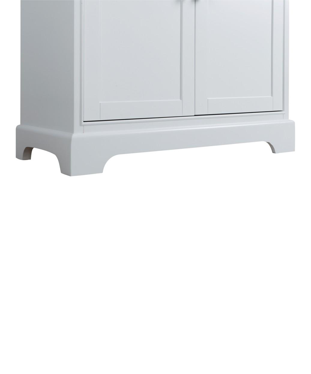 """Hudson 36"""" White Vanity Styling Station & Mirror"""