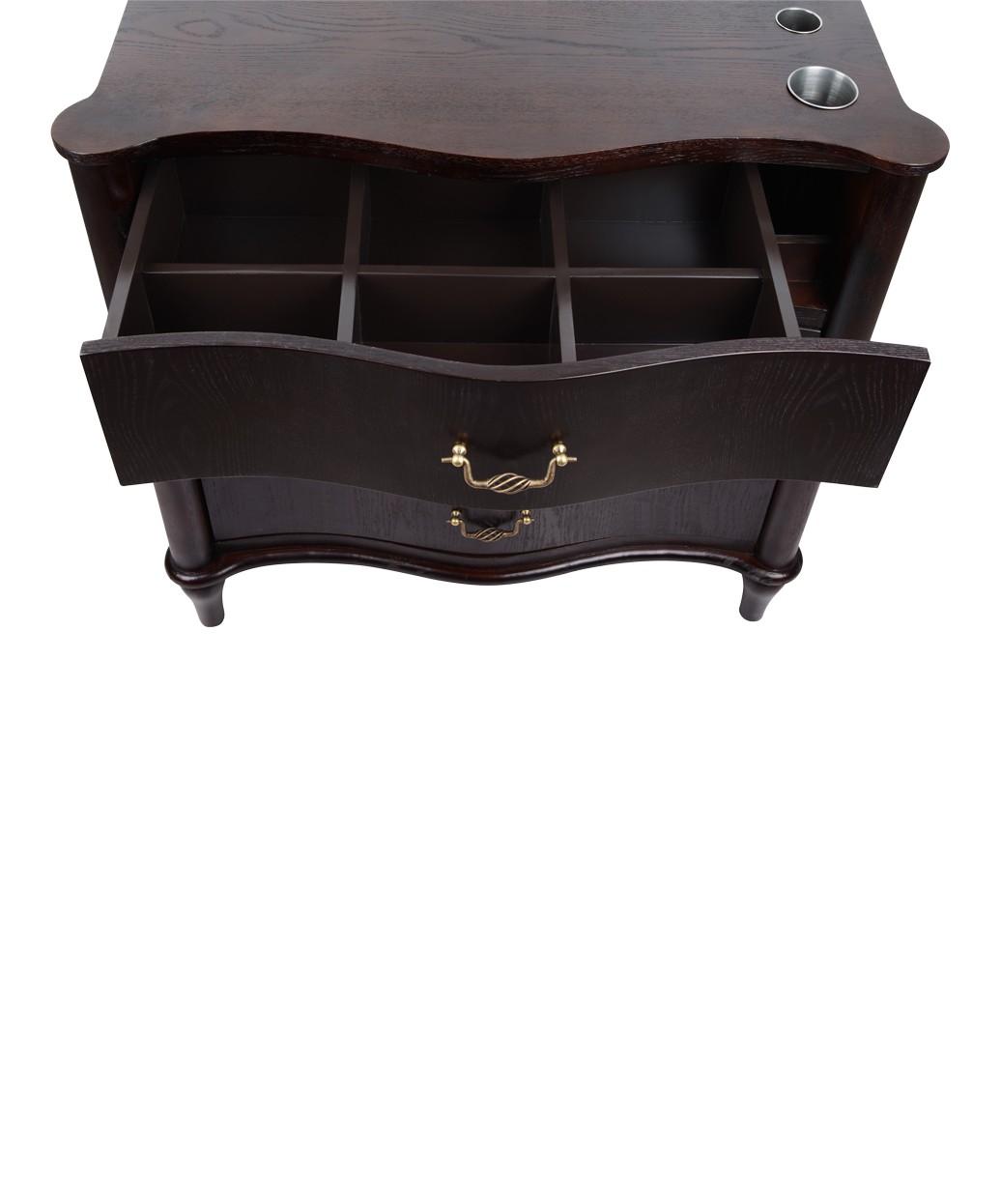 "Hamilton 36"" Espresso Oak Vanity Styling Station & Mirror"