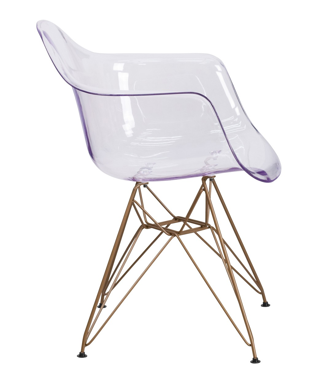 Allure Reception Chair With Gold Frame
