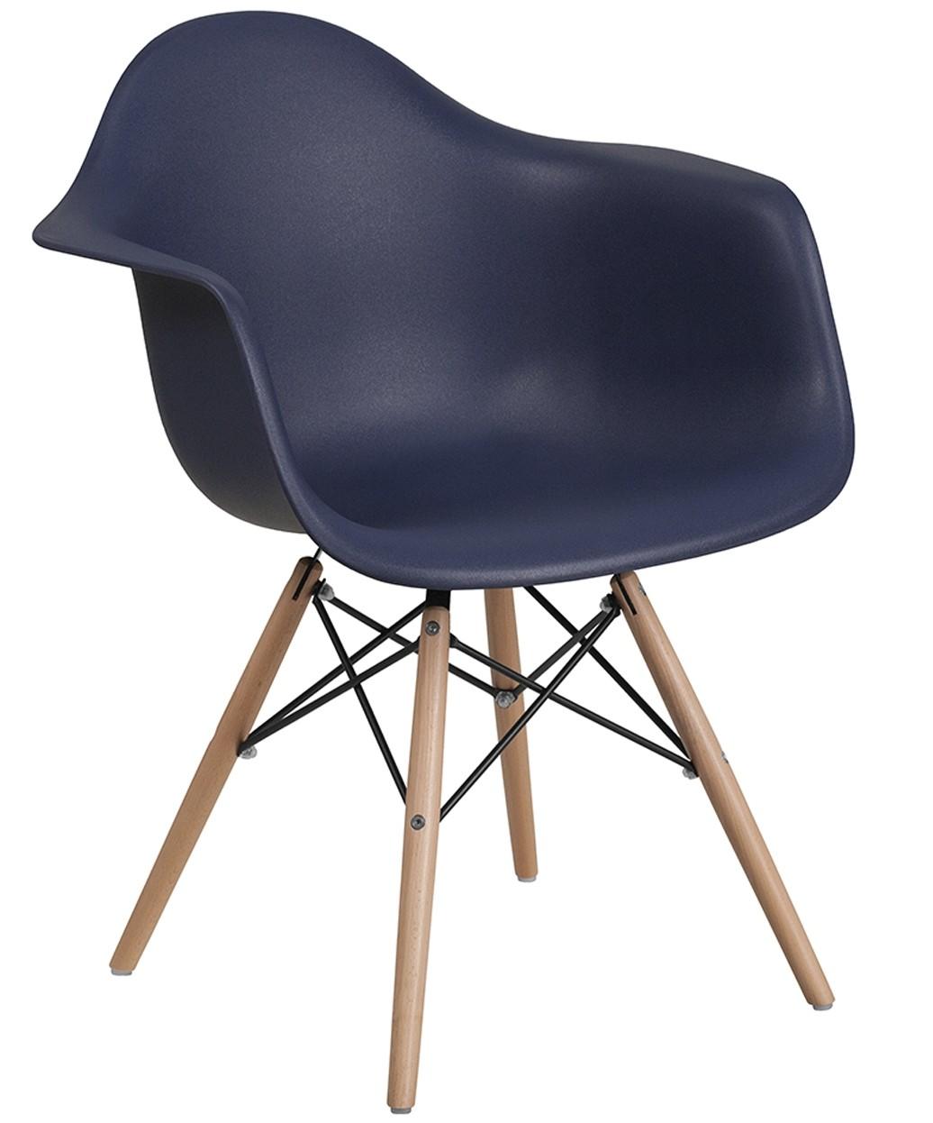 Clarke Reception Chair w/ Wood Base