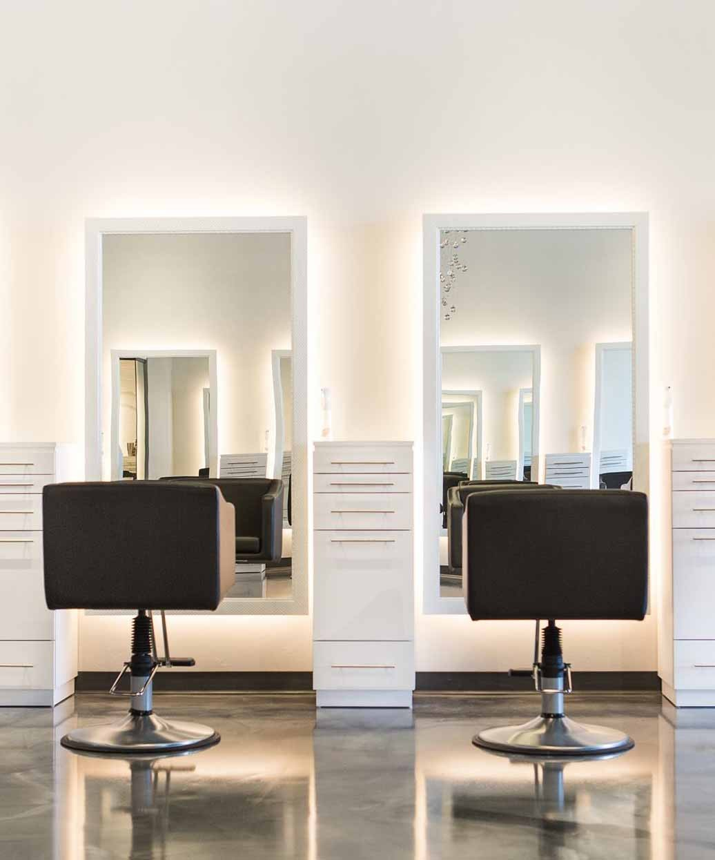 4 Operator Icon & Bali Tall w/ Mirror Salon Package