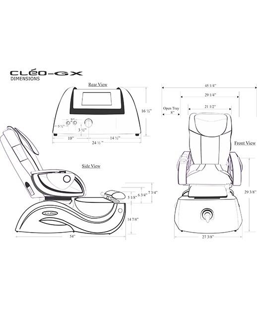 J&A Cleo GX Pedicure Spa w/ Glass Bowl