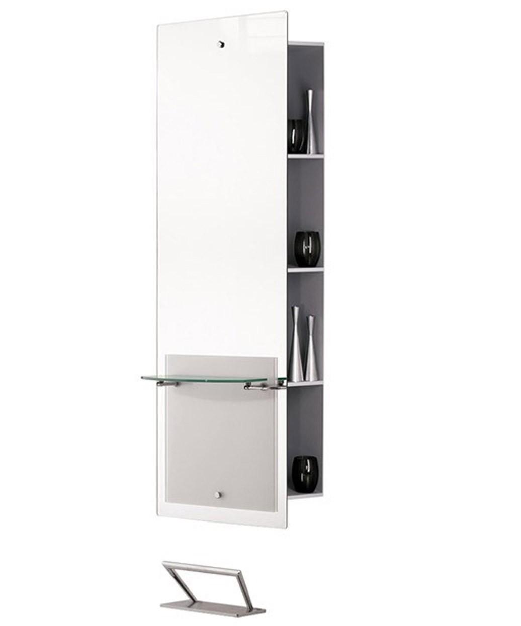 Salon Ambience Lisboa Mirror Styling Station w/ Storage