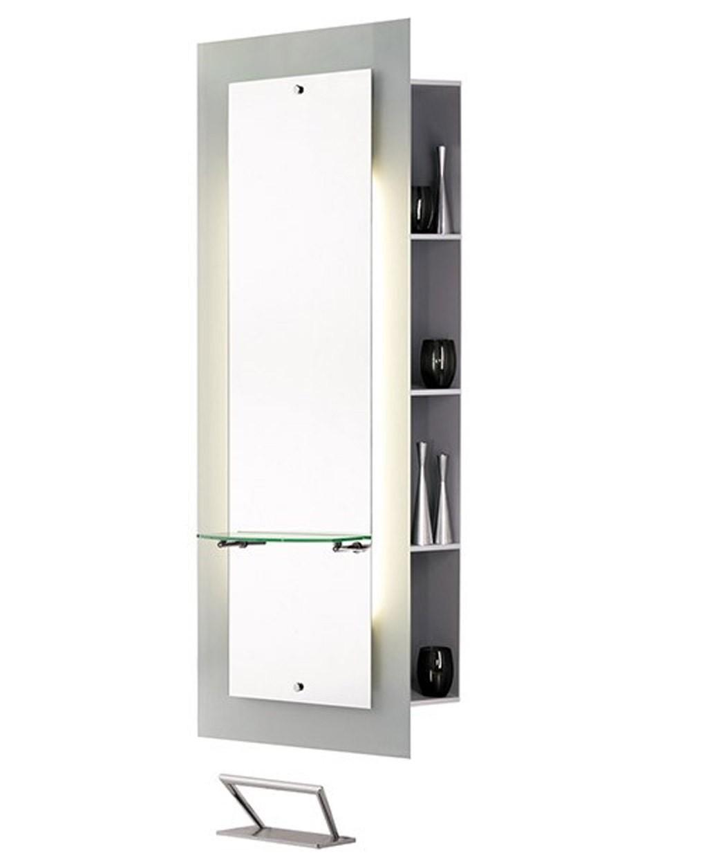 Salon Ambience Lyon Mirror Styling Station w/ Storage