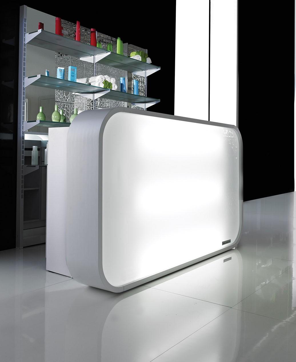 Salon Ambience RD131 Matrix Italian Reception Desk w/ LED Lights