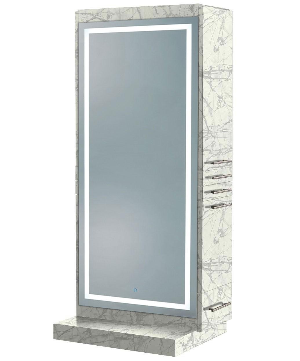 Zeus Styling Station w/ Mobile Base & LED Mirror