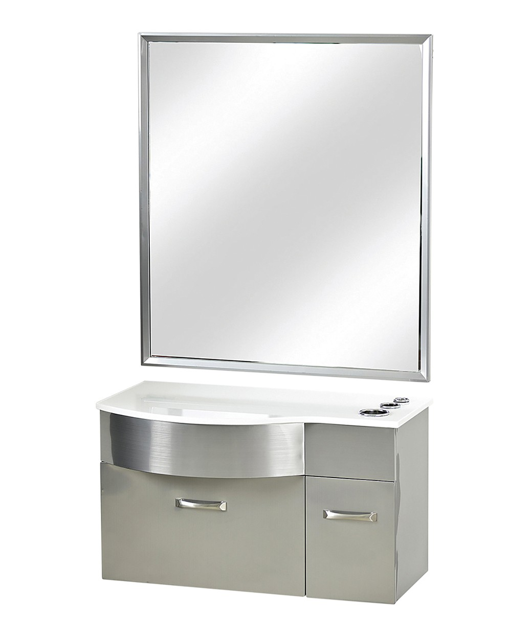 Pibbs PB52W Stainless Steel Styling Station w/ Mirror
