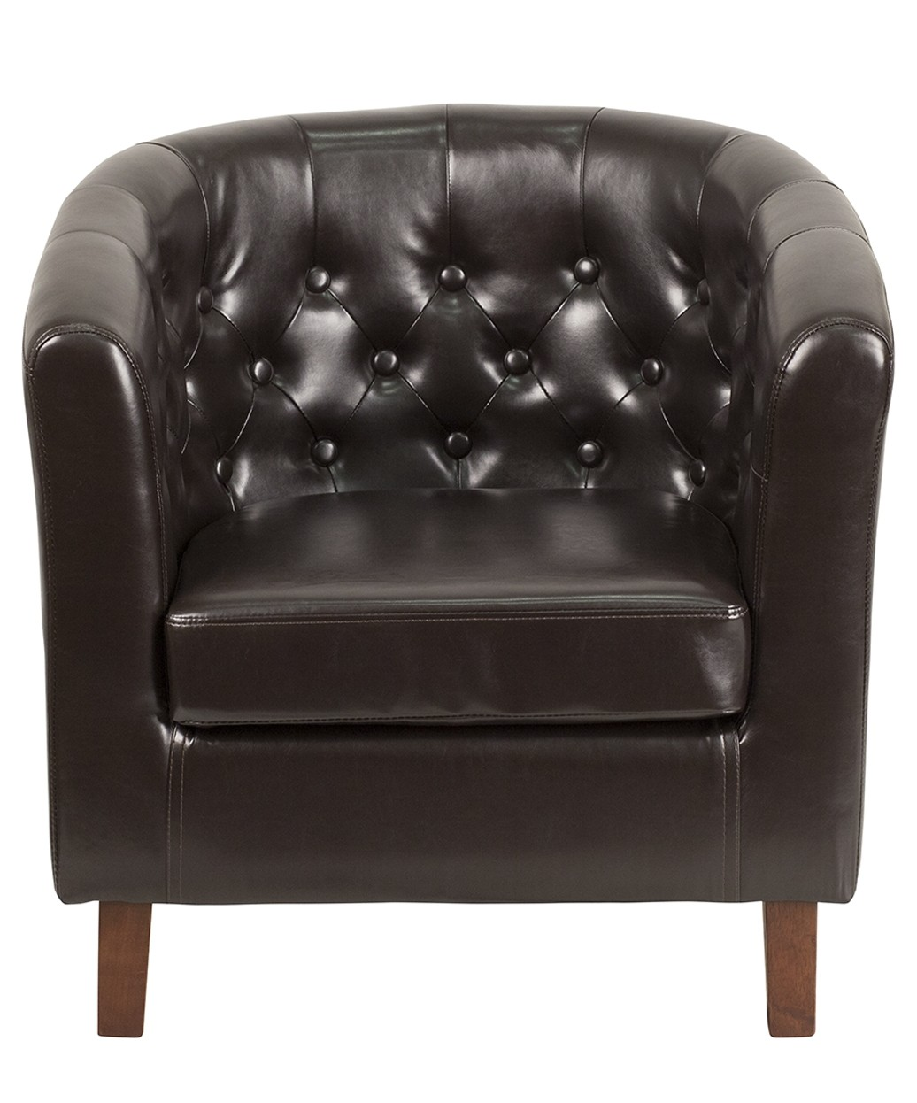 Kensignton Tufted Leather Reception Chair