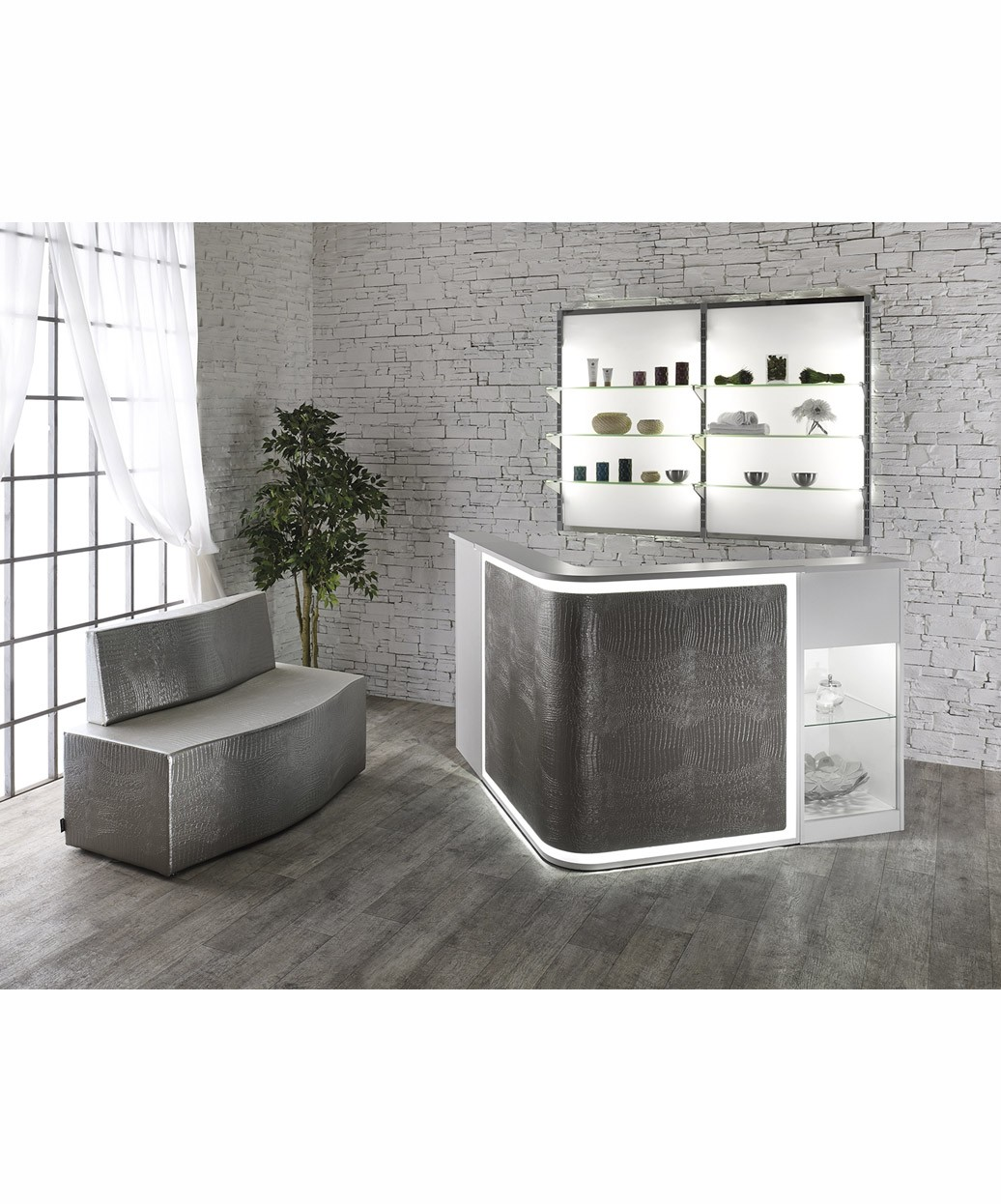 Salon Ambience Rd216 Smart Italian Reception Desk W Led Light