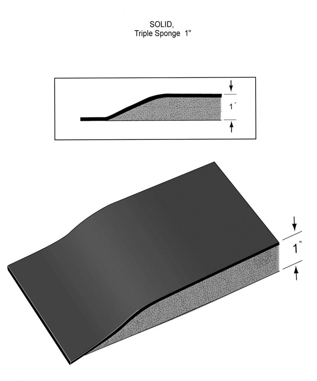 "3' X 5' Rhino Vegas Heel-Proof Mat w/ Round Cut-Out 1"""