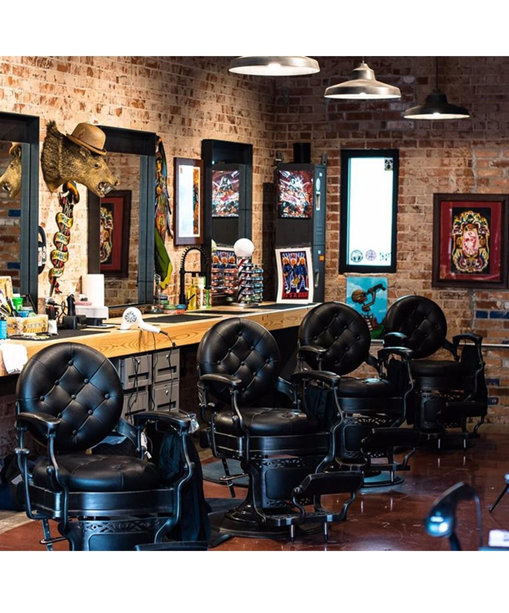 Barber Style Bar Stools: Adeco Black Low Wrap Around Bar