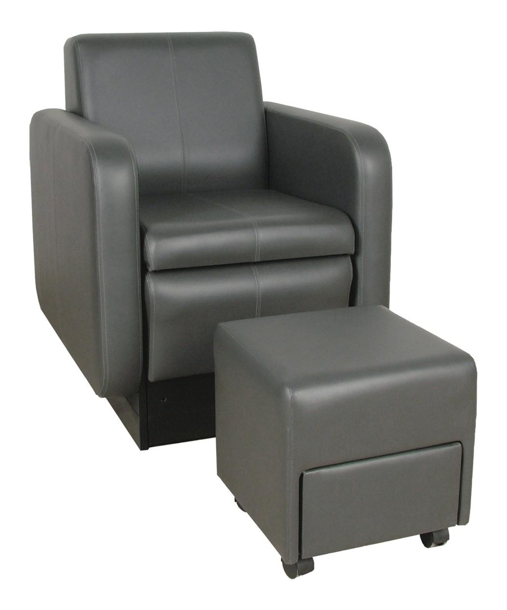 Collins 2555 blush club pedicure chair w footsie bath for Nail salon benches