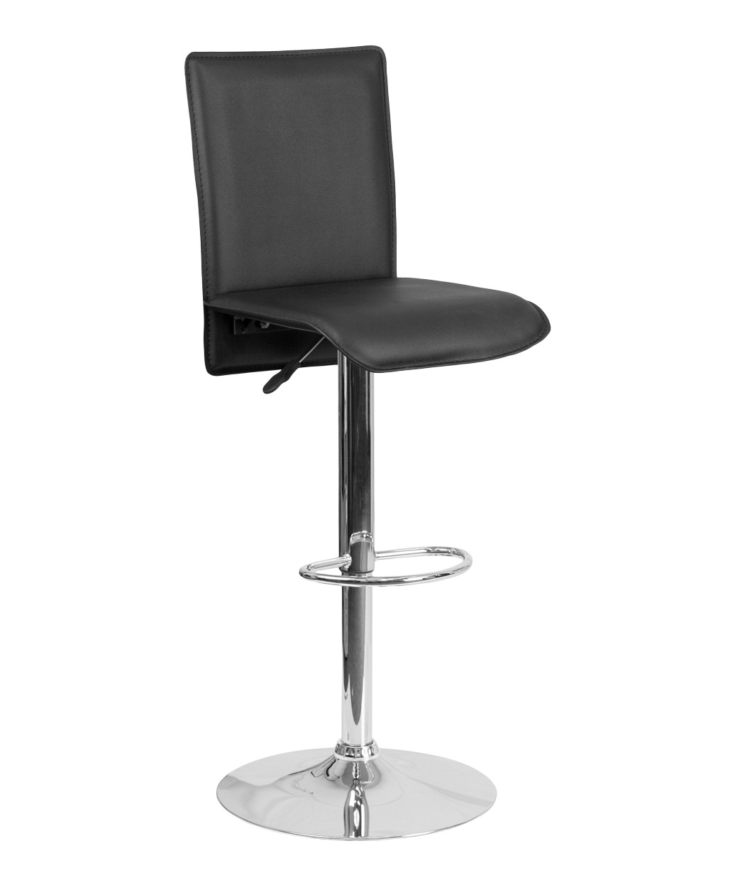 Fine Contemporary Tall Vinyl Adjustable Height Barstool With Chrome Base Pabps2019 Chair Design Images Pabps2019Com