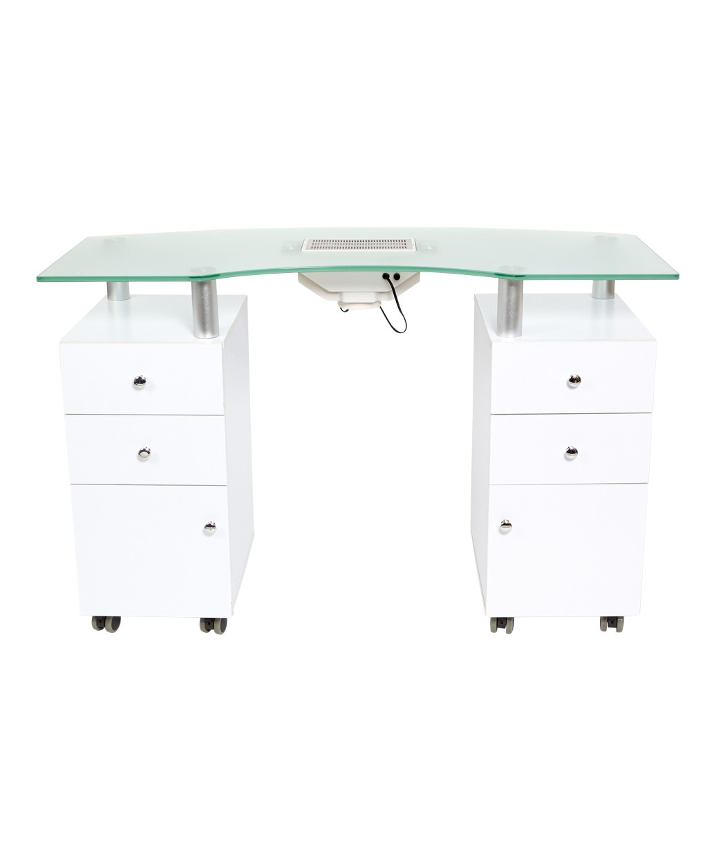 J Amp A Manicure Nail Table With Vent Amp Glass Top By Buy Rite