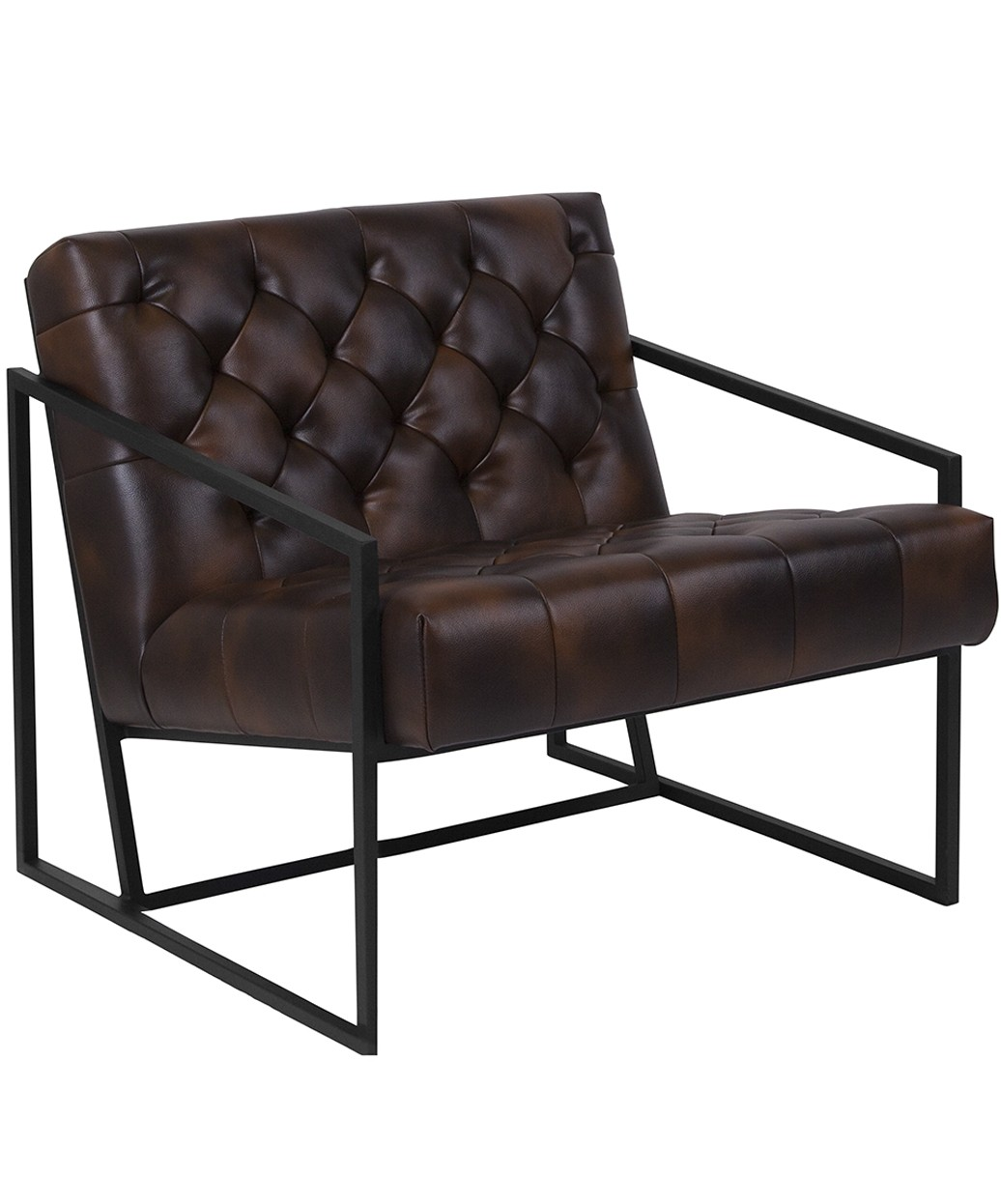 sc 1 st  Buy-Rite Beauty & Keane Tufted Leather Chair w/ Metal Frame