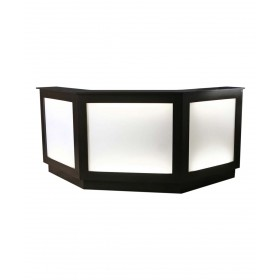Collins 103061 SO Three-Sided Reception Desk w/ Back-Lit Panel