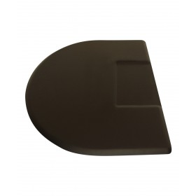 """3' X 4.5' IC Urethane Extra Soft Circular Mat w/ Square Cut-Out 3/4"""""""