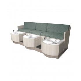 Collins 62478 Cielo Triple-Basin Pipeless Pedicure Bench
