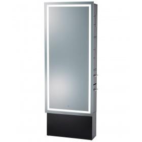 Pibbs Lumina LED Salon Mirror & Storage Server w/ Base