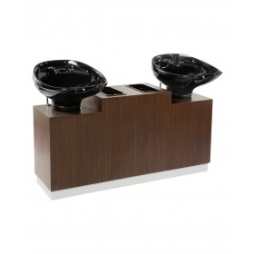 Bali Double Pedestal Shampoo Unit
