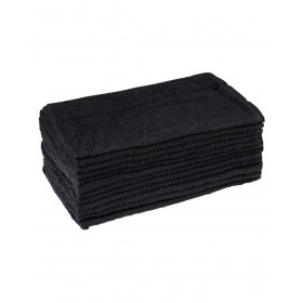 12 Pack Black Towels