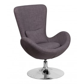 Leather Egg Reception & Lounge Side Chair