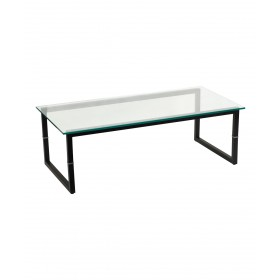 Contemporary Glass Reception Center Table