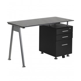 Miller Manicure Table w/ Glass Top