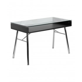 Brettford Manicure Table w/ Tempered Glass Top