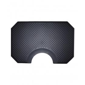 """40"""" x 60"""" Rhino Phat Footsie Hexagon Salon Mat w/ Round Cut-Out 1"""""""