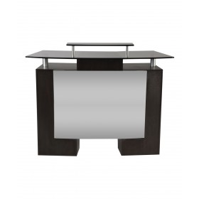 J&A Glass Top Reception Desk