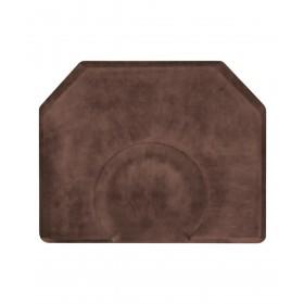 "4' X 5' Hexagon Smart Step Vintage Leather Salon Mat 3/4"""