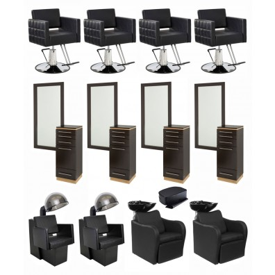 4 Operator Icon & Bali Tall w/ Mirror Salon Package