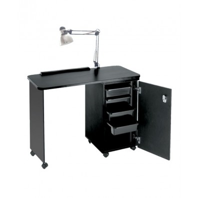 Pibbs NC1006N Manicure Table w/ Lamp