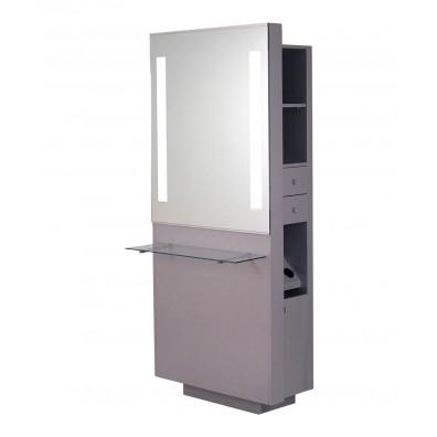 Belvedere OP252-HPL Opal Styling Station w/ Shelf