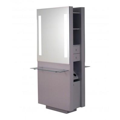 Belvedere OP292-HPL Opal Double Styling Station w/ Shelf