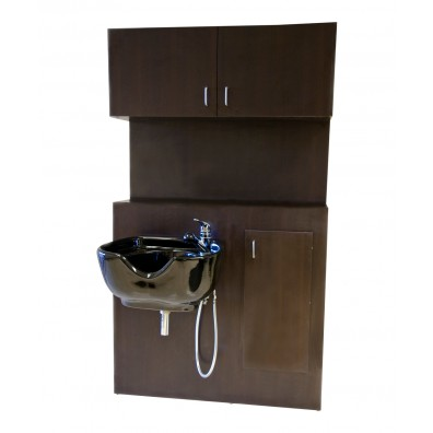1067 Shampoo Bulkhead with Storage from Buy-Rite Beauty