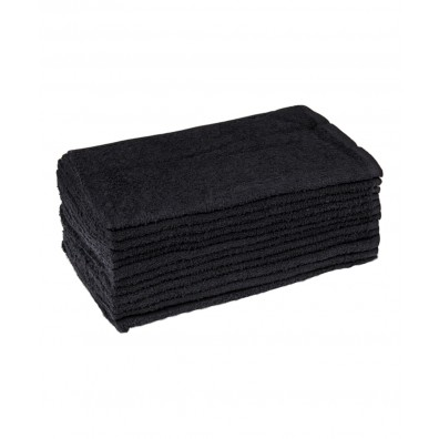 12 Pack Black Towels from Buy-Rite Beauty
